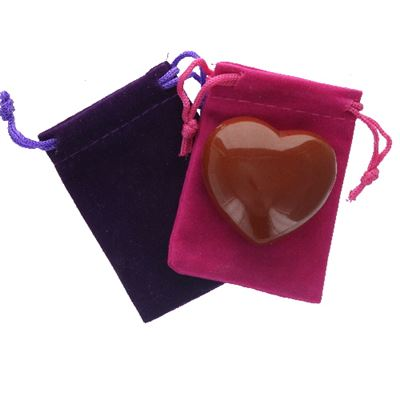 Red Jasper Heart Large in Pouch